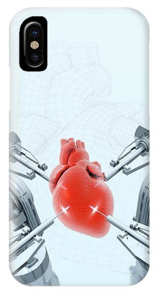 Robotic Arms Making A Heart Phone Case by Victor Habbick Visions