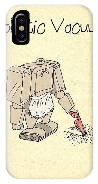 iPhone Case - Robotic Vacuum Cleaner Comic by