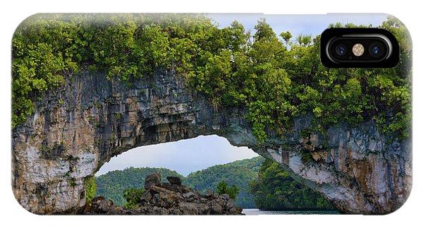 Micronesia iPhone Case - Rock Bridge, Rock Islands, Palau by Keren Su