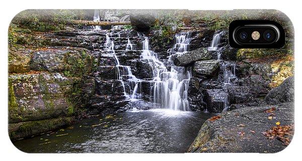 Chilhowee iPhone Case - Rock Creek Falls by Debra and Dave Vanderlaan