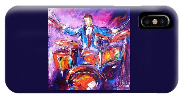 Coldplay iPhone Case - Rock Drummer Painting Available As An Art Print  by Mary Cahalan Lee- aka PIXI