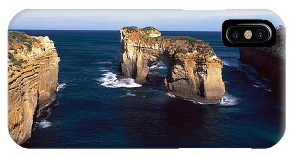 Loch Ard iPhone Case - Rock Formations In The Ocean, Campbell by Panoramic Images