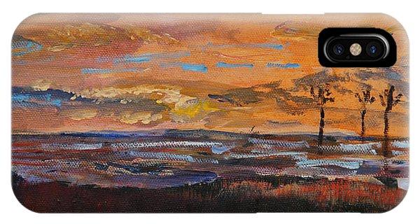 Rock Harbor Sunset IPhone Case