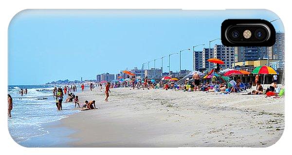 Rockaway Beach And Boardwalk Summer 2012 IPhone Case