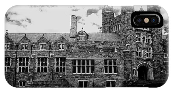 Uas iPhone Case - Rockefeller Hall - Bryn Mawr In Black And White by Georgia Fowler