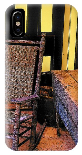 Rocking Chair And Woodbox IPhone Case