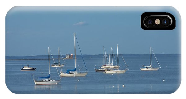 Rockland Breakwater Lighthouse After Dark Coast Of Maine IPhone Case