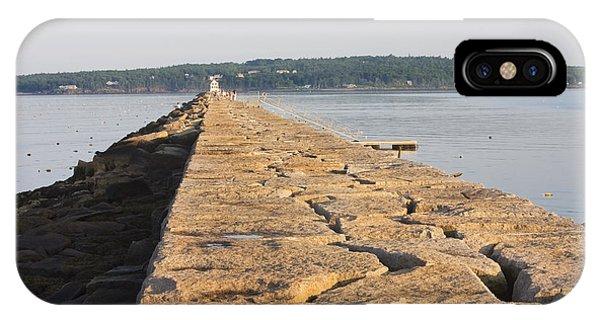 Rockland Breakwater Lighthouse Coast Of Maine IPhone Case