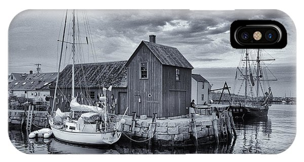 New England Barn iPhone Case - Rockport Harbor Lobster Shack by Stephen Stookey