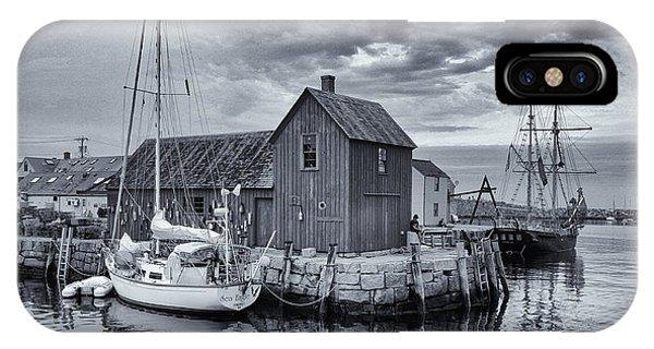 Motif iPhone Case - Rockport Harbor Lobster Shack by Stephen Stookey