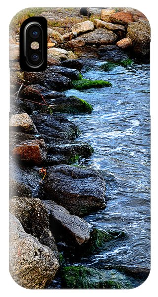 Rocks Along River Phone Case by Victoria Clark