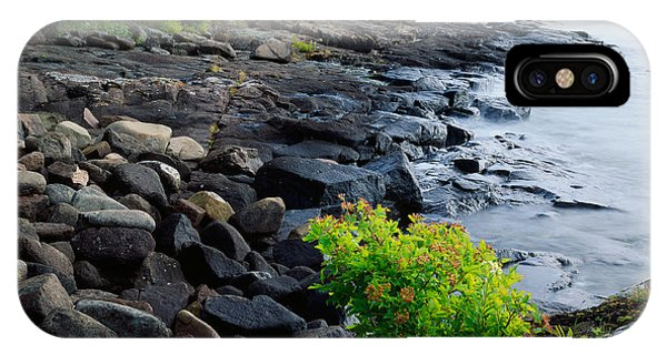 Lake Superior iPhone Case - Rocks And Trees Along Lake Superior by Panoramic Images