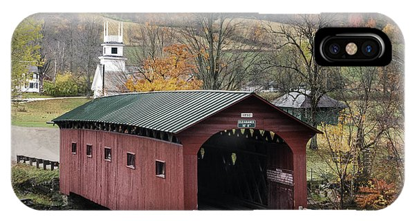 Rockwell Country - The Covered Bridge Of West Arlington IPhone Case