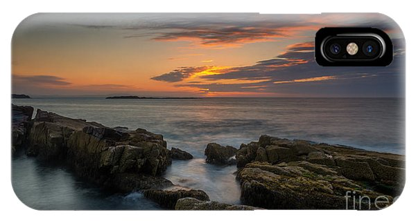 Michael iPhone Case - Rocky Coast Of Maine Wide Crop by Michael Ver Sprill