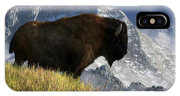 Rocky Mountain Buffalo IPhone Case