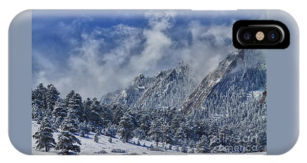 Rocky Mountain Dusting Of Snow Boulder Colorado IPhone Case
