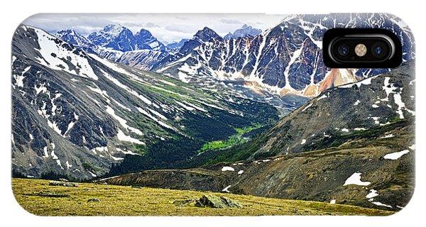 Rocky Mountain iPhone Case - Rocky Mountains In Jasper National Park by Elena Elisseeva