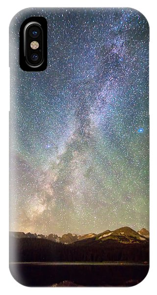 Indian Peaks Wilderness iPhone Case - Rocky Mountains Indian Peaks Milky Way Rising by James BO Insogna