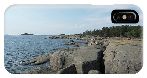 Rocky Seashore 2 In Hamina  IPhone Case
