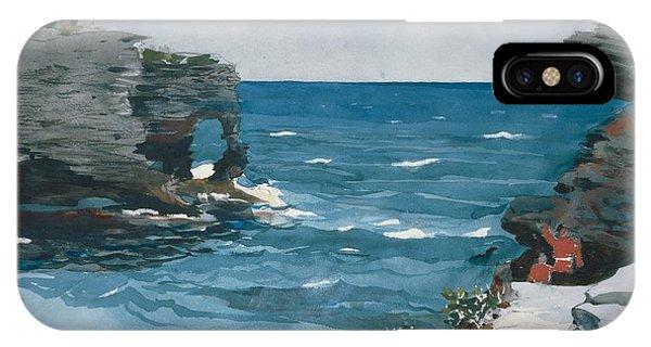 iPhone Case - Rocky Shore Bermuda by Winslow Homer