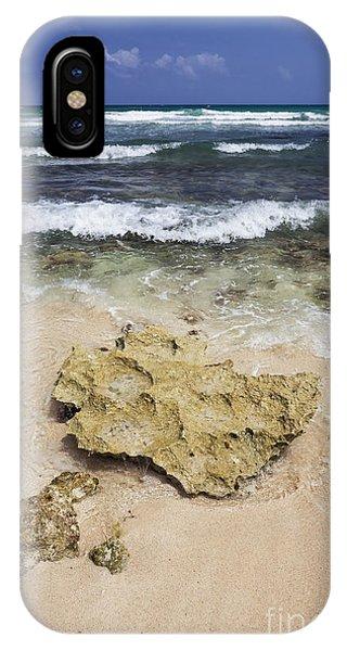 Rocky Shoreline In Tulum IPhone Case