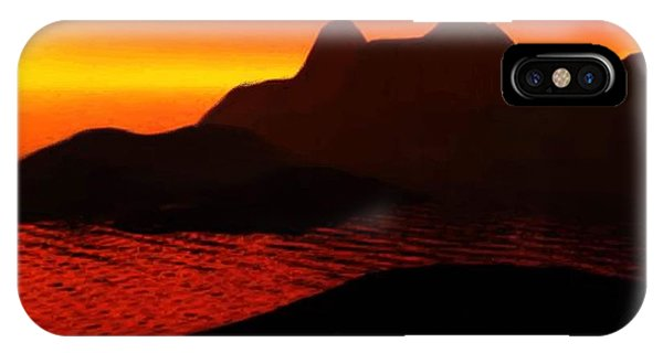 Rocky Sunset IPhone Case