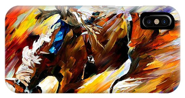 Free Shipping iPhone Case - Rodeo - Palette Knife Oil Painting On Canvas By  Leonid Afremov a1962e6e50e4