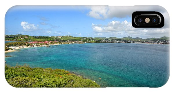 Rodney Bay Viewed From Fort Rodney - St. Lucia Phone Case by Brendan Reals