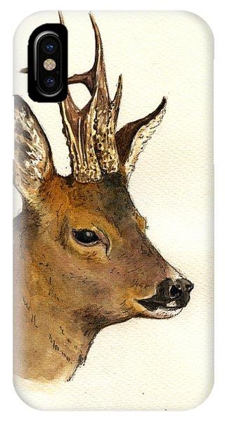 Roe Deer Head Study IPhone Case
