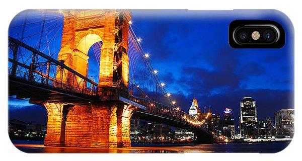 Roebling Bridge Cincinnati IPhone Case