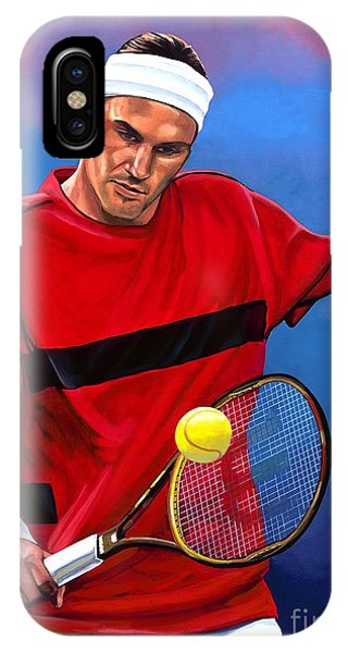 Open iPhone Case - Roger Federer The Swiss Maestro by Paul Meijering