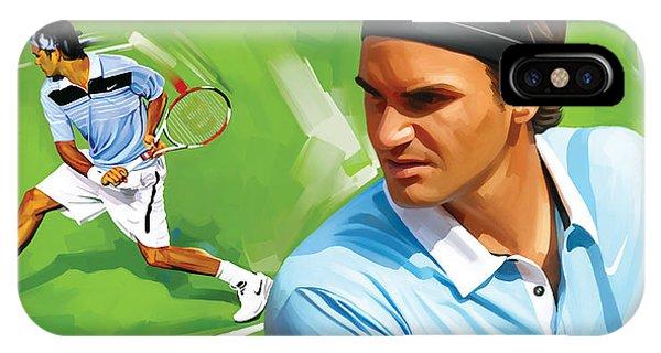 Tennis iPhone Case - Roger Federer Artwork by Sheraz A