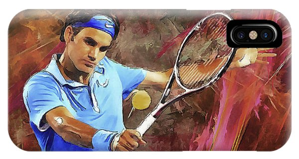 Roger Federer Backhand Art IPhone Case