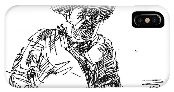 Bar iPhone Case - Roger In A Cowboy Hat by Ylli Haruni