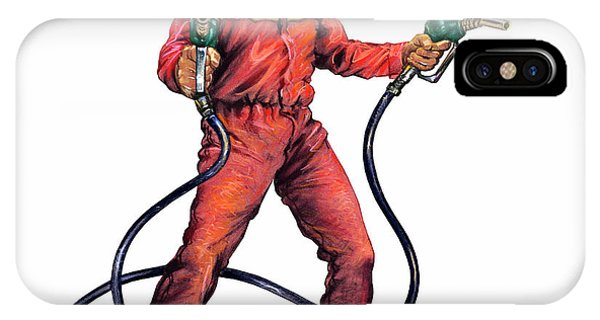 Dispenser iPhone Case - Rogue Oil Industry by Smetek