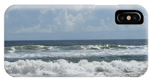 Rolling Clouds And Waves IPhone Case