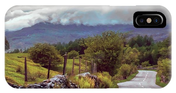 Rolling Storm Clouds Down Cumbrian Hills IPhone Case