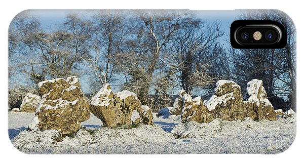 Rollright Stones In Winter IPhone Case