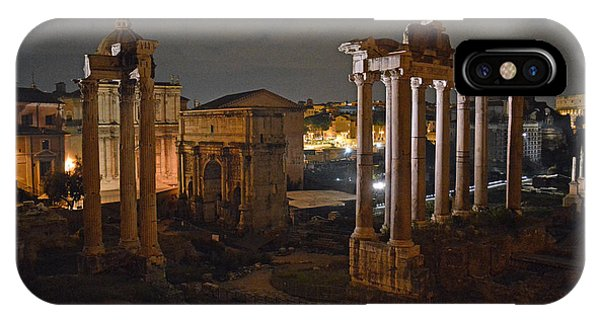 Roman Forum At Night 2 IPhone Case