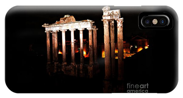 Roman Forum At Night IPhone Case