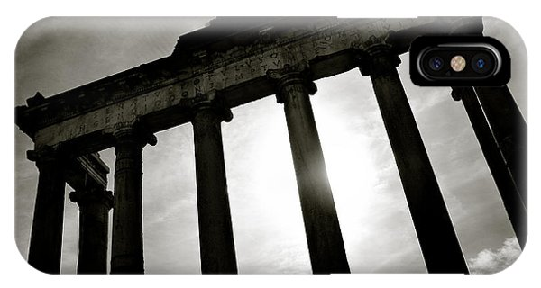 Mono iPhone Case - Roman Forum by Dave Bowman