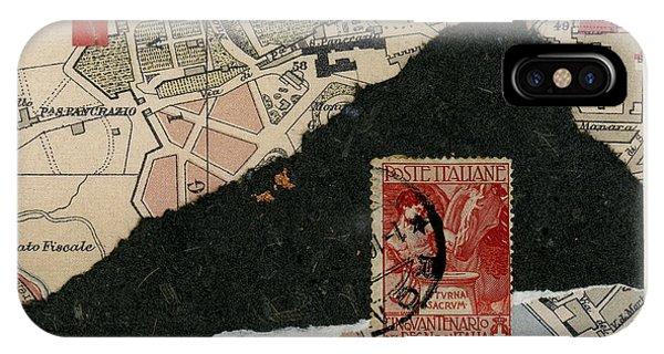 Roman Map Collage IPhone Case