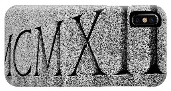 Roman Numerals Carved In Stone IPhone Case