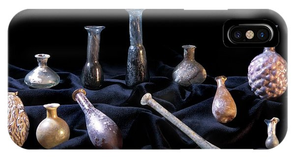 Perfume Bottles iPhone Case - Roman Perfume Bottles by Patrick Landmann/science Photo Library