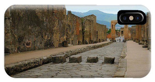 Roman Street In Pompeii IPhone Case