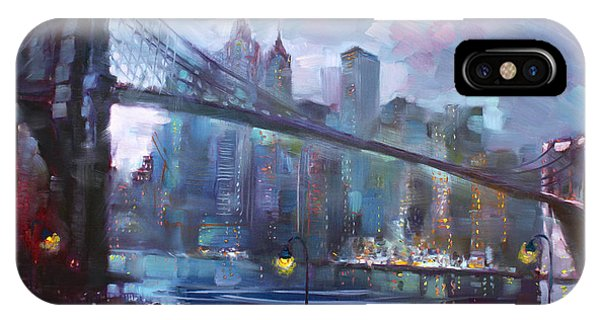 Bridge iPhone Case - Romance By East River II by Ylli Haruni