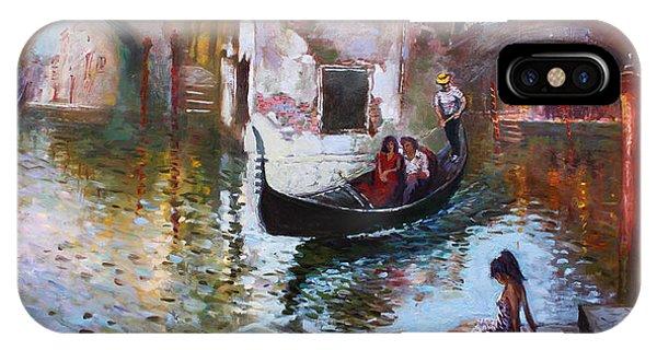 Romance iPhone Case - Romance In Venice 2013 by Ylli Haruni