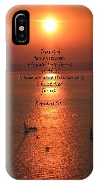 Romans 5 8 IPhone Case
