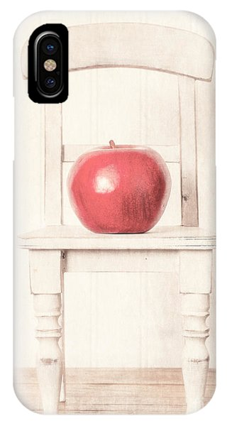 Chair iPhone Case - Romantic Apple Still Life by Edward Fielding