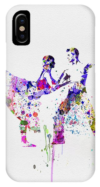 Ballerina iPhone Case - Romantic Ballet Watercolor 2 by Naxart Studio
